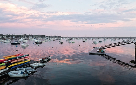 Colorful Sunset over Marblehead Harbor